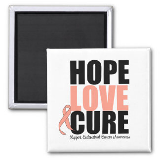 Endometrial Cancer Hope Love Cure Refrigerator Magnet