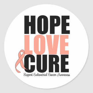Endometrial Cancer Hope Love Cure Sticker