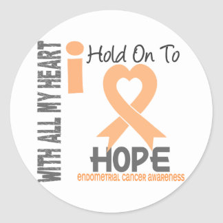 Endometrial Cancer I Hold On To Hope Round Stickers