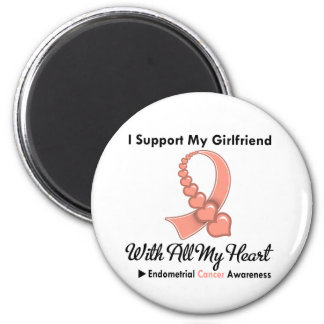 Endometrial Cancer I Support My Girlfriend Refrigerator Magnets