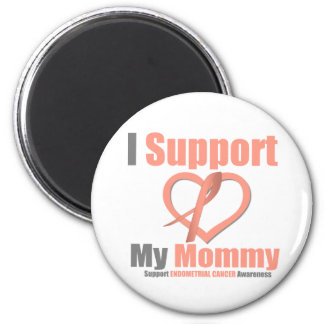 Endometrial Cancer I Support My Mommy 6 Cm Round Magnet