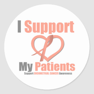 Endometrial Cancer I Support My Patients Round Sticker