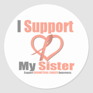 Endometrial Cancer I Support My Sister Round Sticker