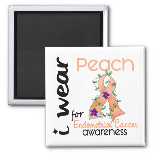 Endometrial Cancer I Wear Peach For Awareness 43 Magnet