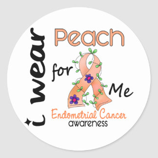 Endometrial Cancer I Wear Peach For Me 43 Stickers