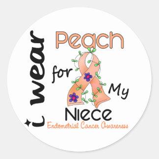 Endometrial Cancer I Wear Peach For My Niece 43 Sticker