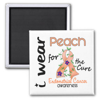 Endometrial Cancer I Wear Peach For The Cure 43 Magnet