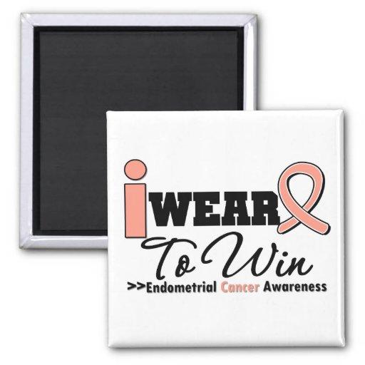 Endometrial Cancer I Wear Peach Ribbon To Win Magnet