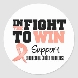 Endometrial Cancer In The Fight To Win Round Sticker