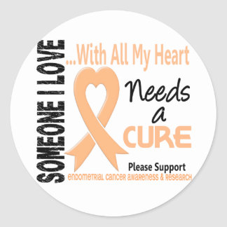 Endometrial Cancer Needs A Cure 3 Round Stickers