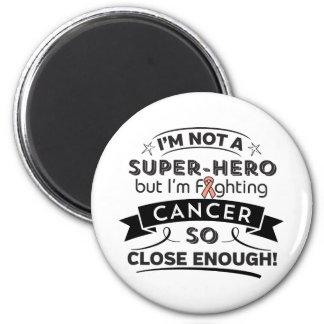 Endometrial Cancer Not a Super-Hero 6 Cm Round Magnet