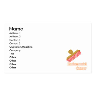 Endometrial Cancer Pack Of Standard Business Cards