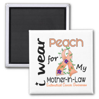 Endometrial Cancer Peach For My Mother-In-Law 43 Magnets