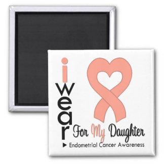 Endometrial Cancer Peach Ribbon DAUGHTER Fridge Magnet