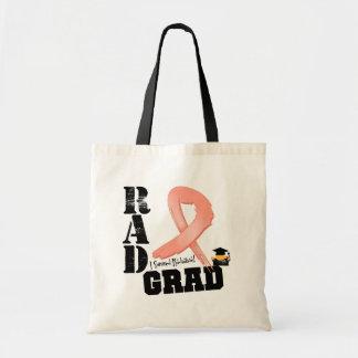 Endometrial Cancer Radiation Therapy RAD Grad Budget Tote Bag