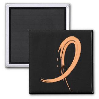 Endometrial Cancer s Peach Ribbon A4 Magnet