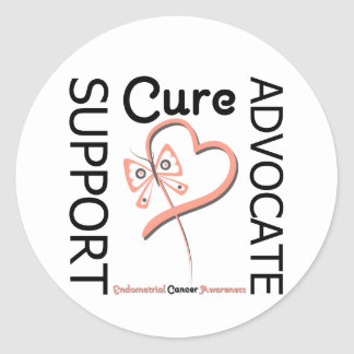 Endometrial Cancer Support Advocate Cure Stickers