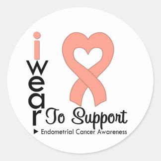 Endometrial Cancer Support Awareness Round Sticker