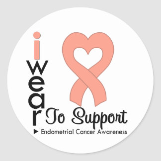Endometrial Cancer Support Awareness Round Sticker