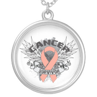 Endometrial Cancer Survivor Grunge Winged Jewelry