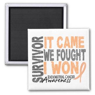 Endometrial Cancer Survivor It Came We Fought Refrigerator Magnet