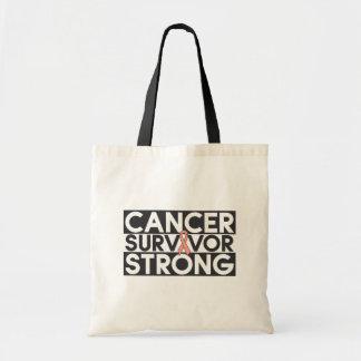 Endometrial Cancer Survivor Strong Canvas Bag