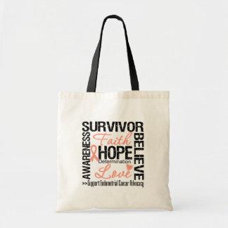 Endometrial Cancer Survivors Motto Budget Tote Bag