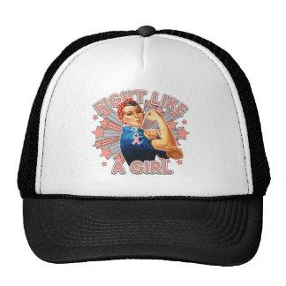 Endometrial Cancer Vintage Rosie Fight Like A Girl Trucker Hat
