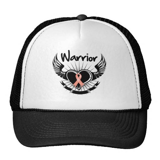 Endometrial Cancer Warrior Fighter Wings Hats