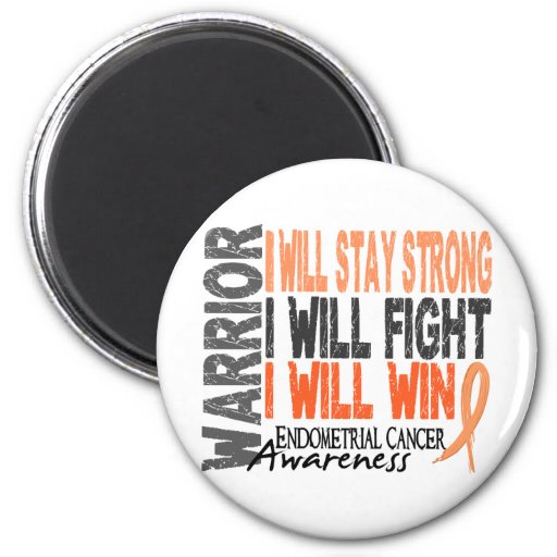Endometrial Cancer Warrior Fridge Magnet