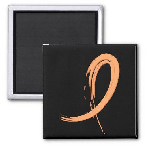 Endometrial Cancer's Peach Ribbon A4 Magnet