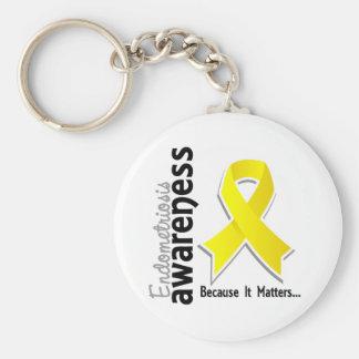 Endometriosis Awareness 5 Key Ring