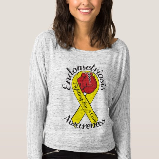 ENDOMETRIOSIS AWARENESS Bella+Canvas Long Sleeves T-Shirt