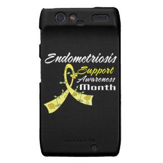 Endometriosis Awareness Month Flower Ribbon Motorola Droid RAZR Cases