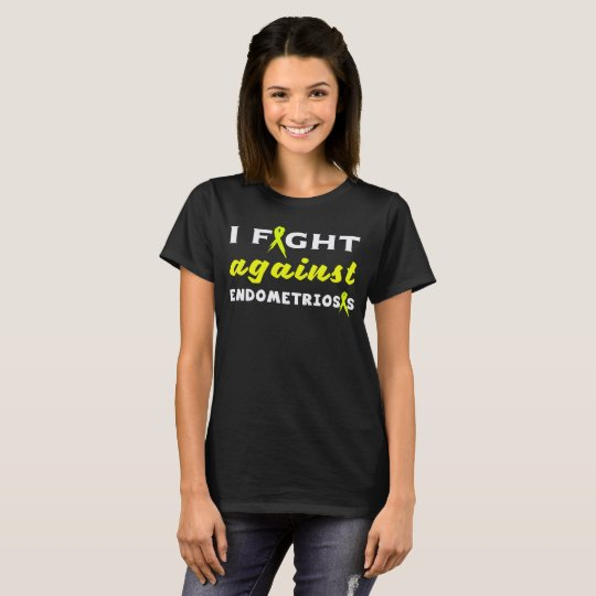 Endometriosis Awareness Yellow Ribbon T-Shirt