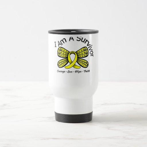 Endometriosis Cancer Butterfly I Am A Survivor Mugs