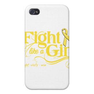 Endometriosis Fight Like A Girl Elegant iPhone 4/4S Cover