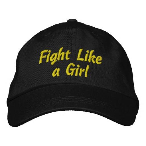 Endometriosis Fight Like a Girl Embroidered Baseball Caps
