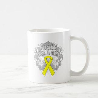 Endometriosis Fight Like A Girl Fleurish Mug