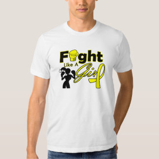 Endometriosis Fight Like A Girl Silhouette T-shirts