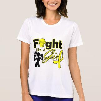 Endometriosis Fight Like A Girl Silhouette Tee Shirt