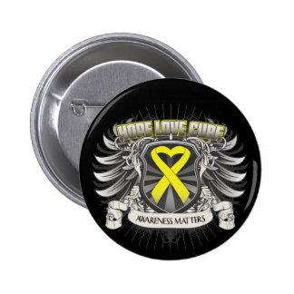 Endometriosis Hope Love Cure 6 Cm Round Badge