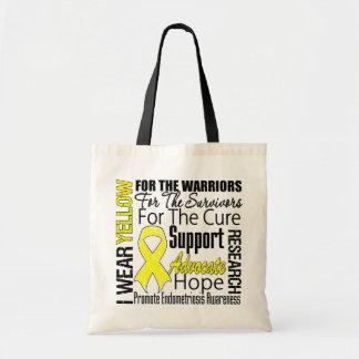 Endometriosis I Wear Yellow Ribbon Tribute Budget Tote Bag