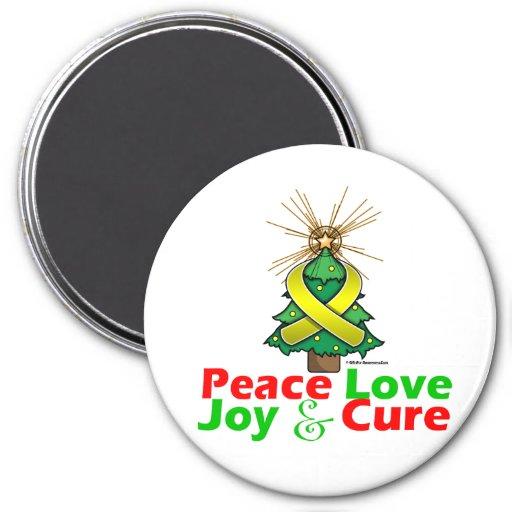 Endometriosis Peace Love Joy Cure Refrigerator Magnet