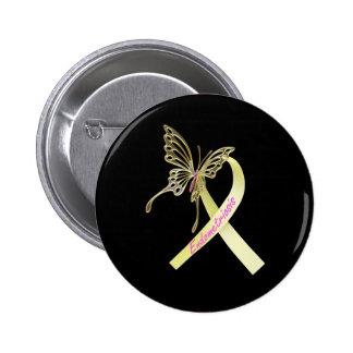 Endometriosis Ribbon 6 Cm Round Badge