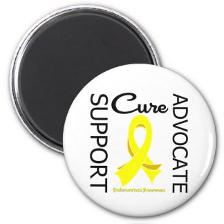 Endometriosis Support Advocate Cure 6 Cm Round Magnet