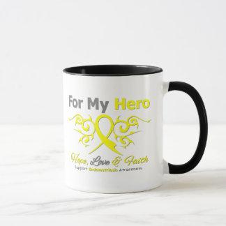 Endometriosis Tribal Ribbon Hero