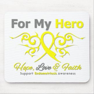 Endometriosis Tribal Ribbon Hero Mouse Pad