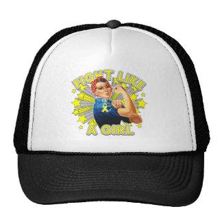 Endometriosis Vintage Rosie Fight Like A Girl Mesh Hats