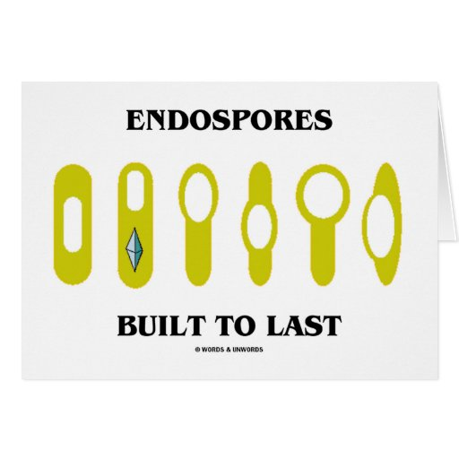 Endospores Built To Last (Bacterial Attitude) Cards